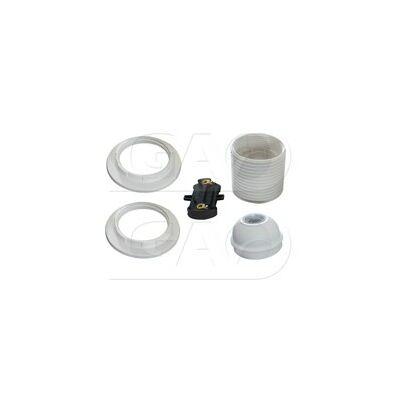 GAO Csillárfoglalat 0719H E27 gyűrűvel fehér