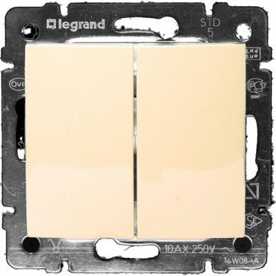 Legrand Valena IP44 kettős váltókapcsoló, elefántcsont