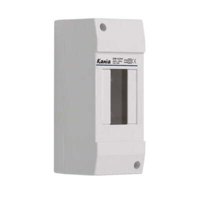 Kanlux 3850 DB108W 1x2P/SM falon kívüli 2modulos lakáselosztó ajtó nélkül