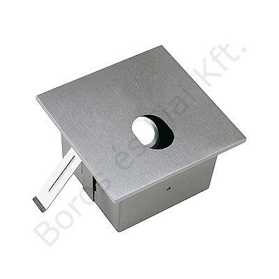 FOK LED fali süllyesztett lámpatest semleges fehér LED 1W négyzet ezüstszürke (112800)
