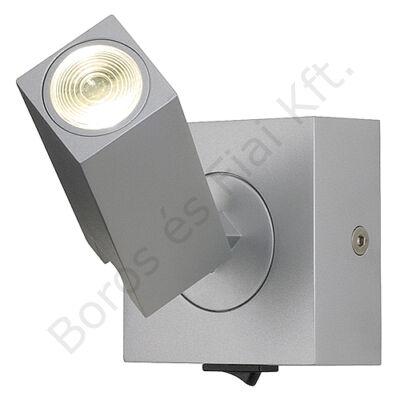STIX 3W LED fali lámpatest meleg fehér LED 3W ezüstszürke (146242)