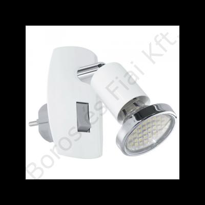 Eglo  MINI 4 LED-es dugaljszpot 3W acél/króm/fehér 7x10cm fix (92925)