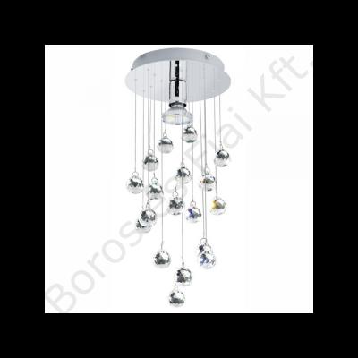 Eglo  Mennyezeti GU10 1x50W króm/kristály Luxy 1 (89527)