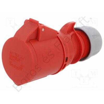 Ipari csatlakozó PCE 224-6 Lengőalj 32A/4P/400V