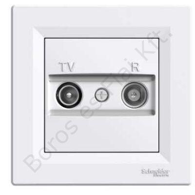 ASFORA TV/R aljzat, átmenő, 4 dB, fehér