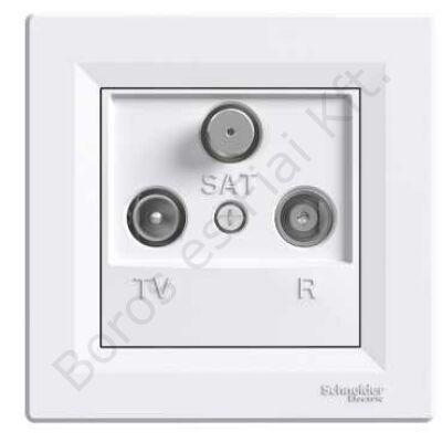 ASFORA TV/R/SAT aljzat, átmenő, 8 dB, fehér