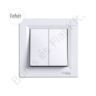 Schneider ASFORA Csillárkapcsoló, rugós bekötés, fehér