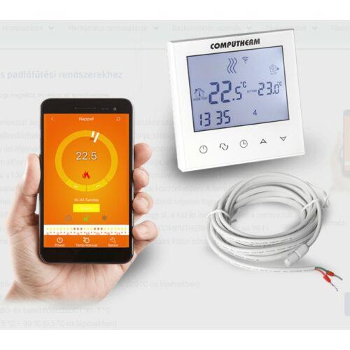 Computherm E280 Wi-Fi termosztát radiátoros és padlófűtési rendszerekhez, fehér