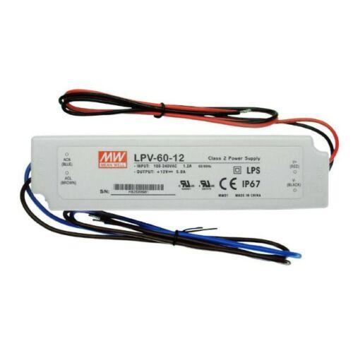 LED tápegység 60W/12V/0-5A