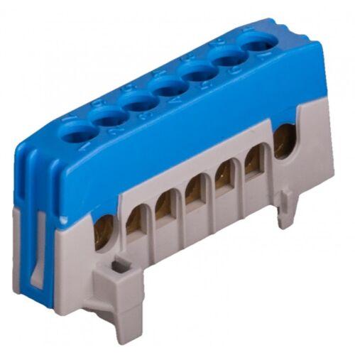 Pollmann 2020266 N7-F2 kék csatlakozó sorkapocs, szigetelt csavaros sín sínrepattintható