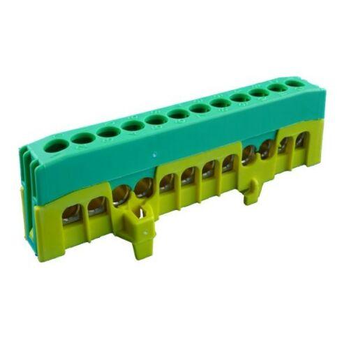 Pollmann 2020270 SL12-F2 zöld/sárga csatlakozó sorkapocs