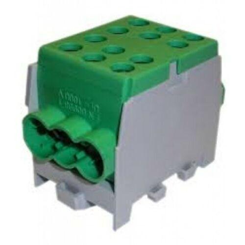Pollmann 2080180 HLAK 35-1/4 M2 zöld 4csatl./25mm2 fővezetéki leágazó 1-pólus csavaros