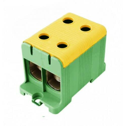 Pollmann 2090203 UK50/2 sorkapocs dupla zöld-sárga 2,5-50 réz, 6-50 alu