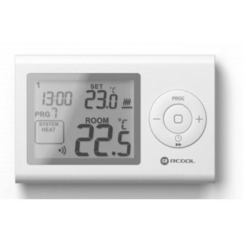 Rcool Szobatermosztát LCD programozható, rádiófrekvenciás VISION7RF