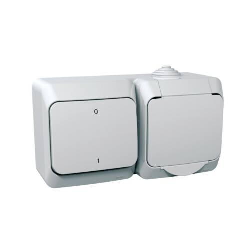 Schneider Cedar Plus 000502 102 kétpólusú kapcsoló + 162 2P+F dugalj fehér