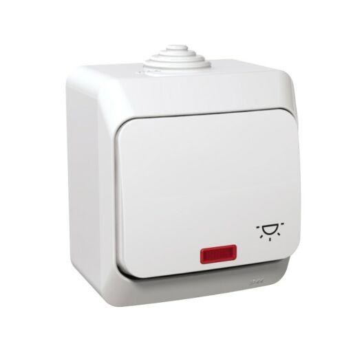 Schneider Cedar Plus 000516 N101 betét komplett házzal 1- billentyűs fehér