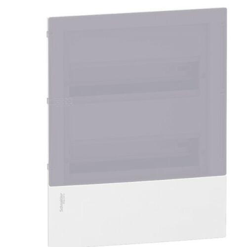 Schneider 22212 T kiselosztó süllyesztett átlátszó ajtó 24 modul 2 sor IP40 fehér