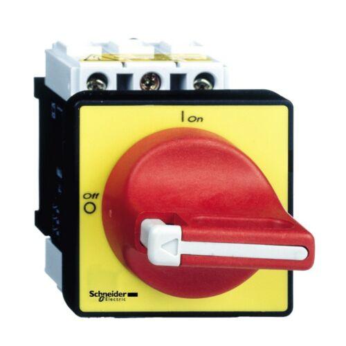 Schneider VCF02 12A 3P komplett főkapcsoló ajtóra és tokozatba szerelhető piros karral