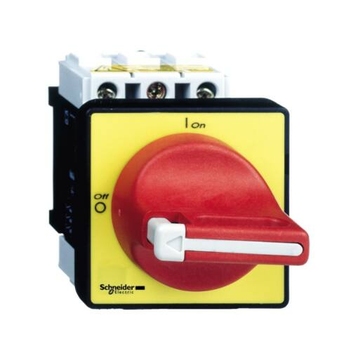 Schneider VCF4 80A 3P komplett főkapcsoló ajtóra és tokozatba szerelhető piros karral