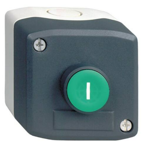 XALD102 tokozott nyomógomb zöld