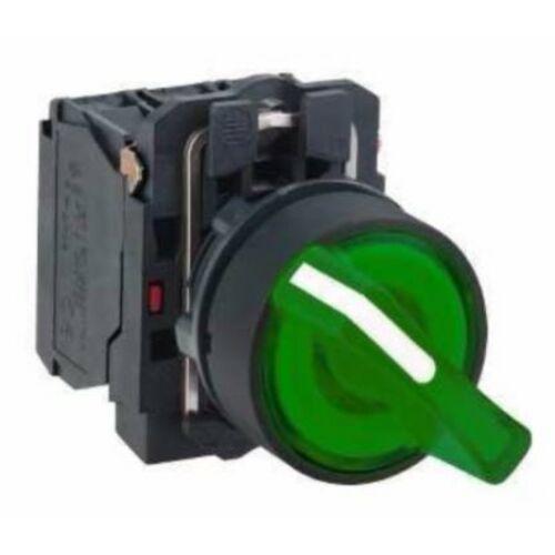 XB5-AK123B5 LED világító választókapcsoló zöld 24V