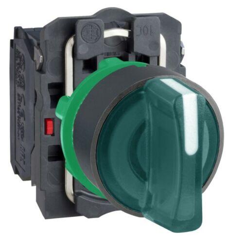 XB5-AK133M5 LED világító választókapcsoló 3 állású fix zöld 230V