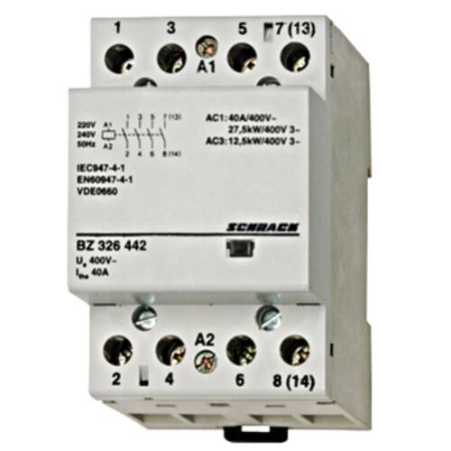 Schrack Amparo Sorbaépíthető mágneskapcsoló 40A, 4z, 3KE