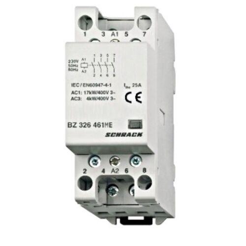 Schrack Amparo Sorbaépíthető mágneskapcsoló 25A, 4z, 2KE
