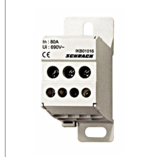 Schrack Csatlakozó blokk, 1 pólusú, be 1x16mm2, ki 4x6+2x16mm2