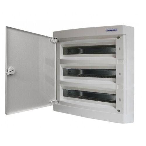 Schrack Falonkívüli kiselosztó 3 soros 36KE átlátszó ajtó