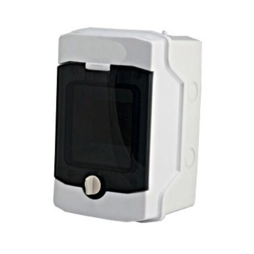 Schrack BK080200 Falonkívüli kiselosztó 1 soros, 4KE, átlátszó ajtó, IP65