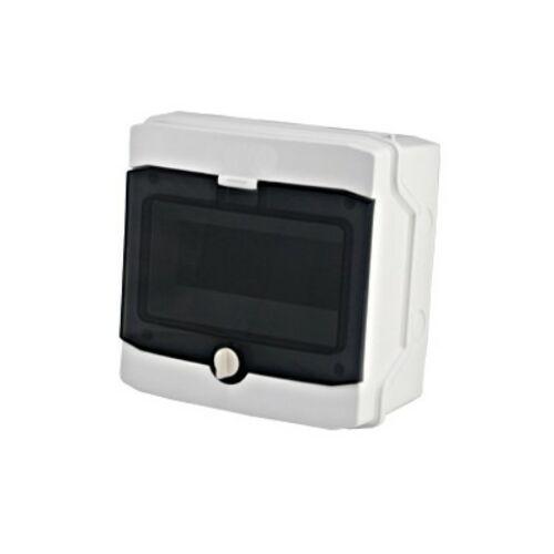 Schrack BK080201 Falonkívüli kiselosztó 1 soros, 8KE, átlátszó ajtó, IP65