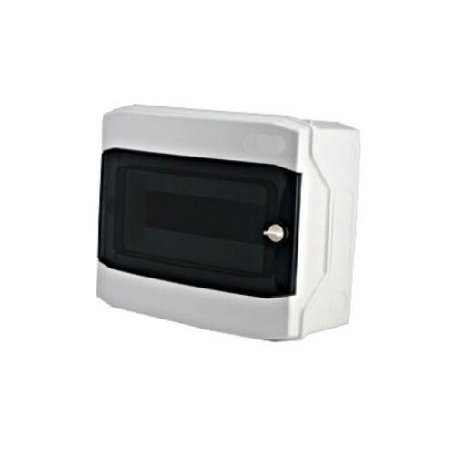 Schrack BK080202 Falonkívüli kiselosztó 1 soros, 12KE, átlátszó ajtó, IP65