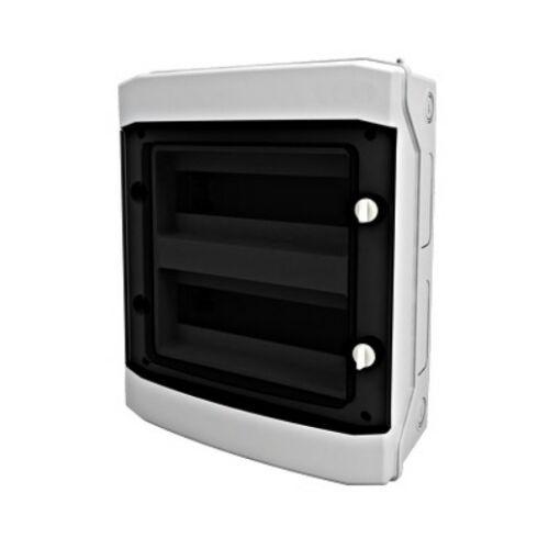 Schrack BK080203 Falonkívüli kiselosztó 2 soros, 24KE, átlátszó ajtó, IP65