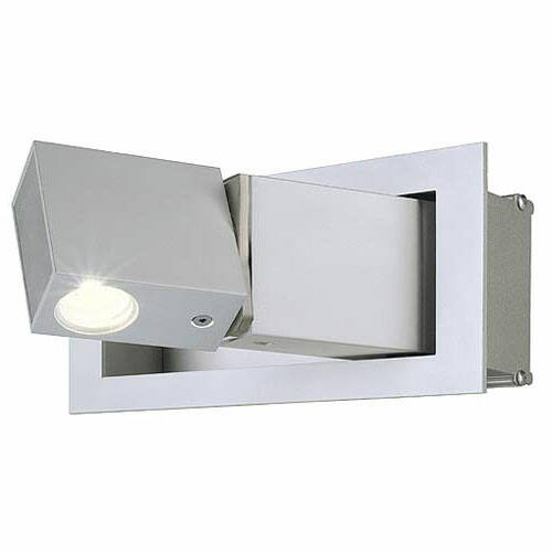 SLV Big White 146242 Beside LED fali lámpatest meleg fehér LED 3W ezüstszürke