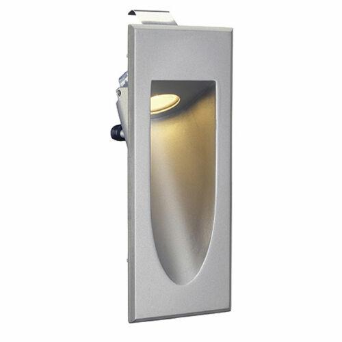 SLV Big White 152072 LED Downunder mini fali süllyesztett lámpatest 1W meleg fehér LED ezüst