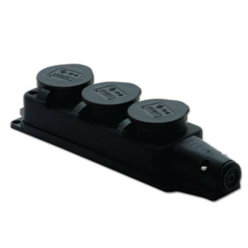 TP Electric 3101-308-0300 Gumi dugalj 3-as csapfedeles 16A fekete