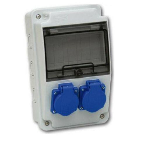 TP Electric 3318-200-0000 Ipari szerelt doboz 130x220 2x(2P+F) előlapon