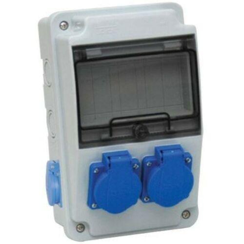 TP Electric 3318-202-0000 Ipari doboz szerelt 130x220 2x(2P+F) előlapon + 2x(2P+F) oldalsó IP44
