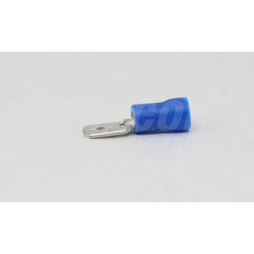 Tracon KCS6 csúszósaru 6,3x0,8 félig szigetelt kék