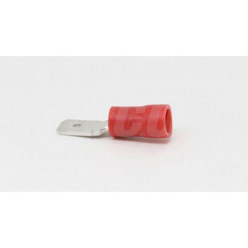 Tracon PCS6 csúszó saru papa 6,3x0,8 félig szigetelt piros