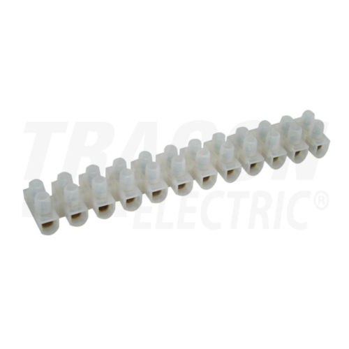 Tracon S10A-H-L sorkapocs lemezes 6mm2 12 tagú natúr