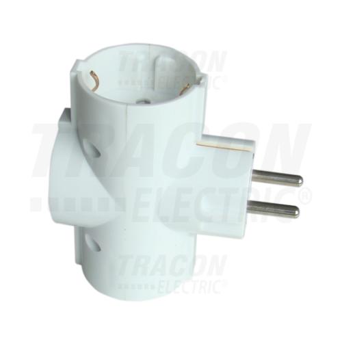 Tracon TDUGO T-dugó 16A 3 férőhely fehér