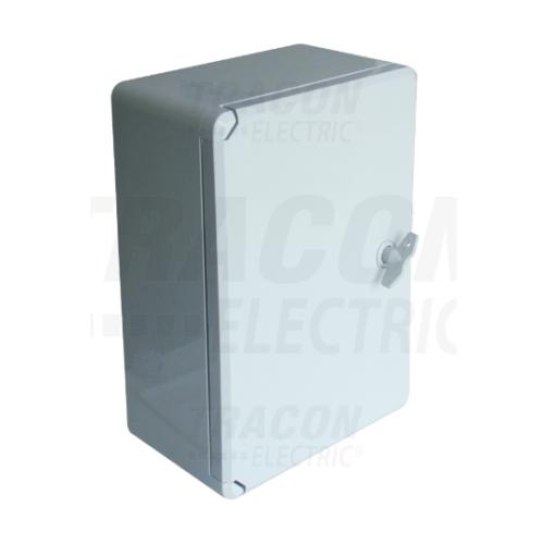 Tracon TME282113 műanyag elosztószekrény 280x210x130mm IP65