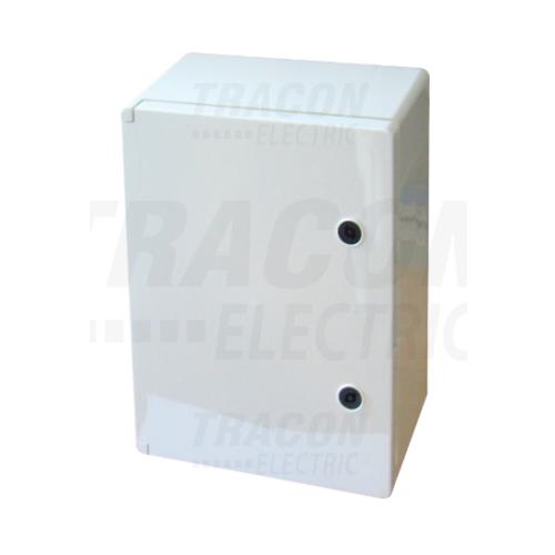 Tracon TME403020 műanyag elosztószekrény 400x300x200mm IP65