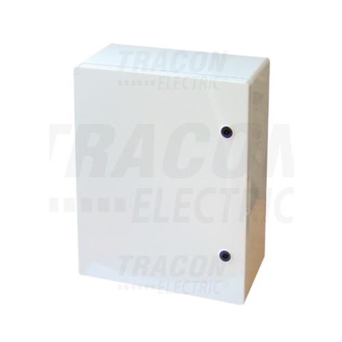 Tracon TME504018 műanyag elosztószekrény 500x400x175mm IP65