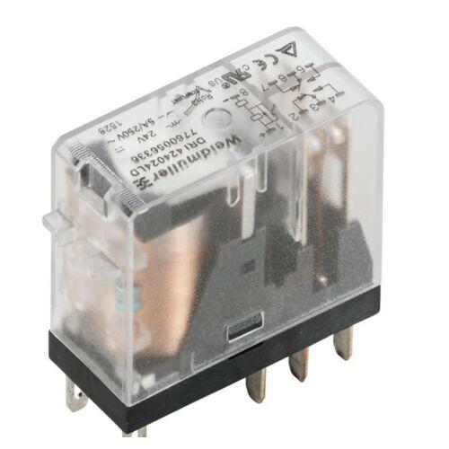 Weidmüller DRI424024L relé 2 morze 24VDC LED-del