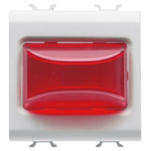 Piros jelzőlámpa 3W LED 24V-230V 2M