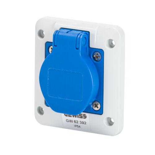 230V-os beépíthető háztartási aljzat kék