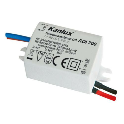 Kanlux 1441 ADI 700 LED működtető transzformátor 1…3x1W